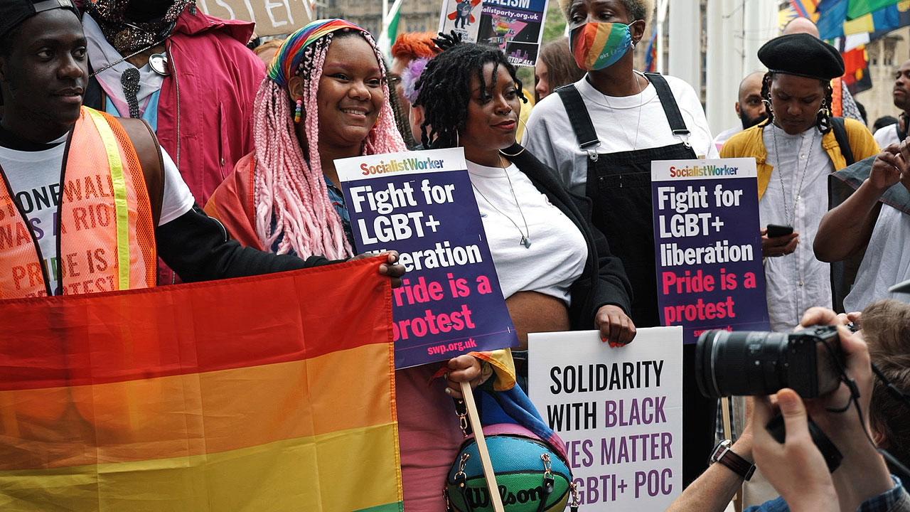 Reclaim Pride March, London 24 July 2021