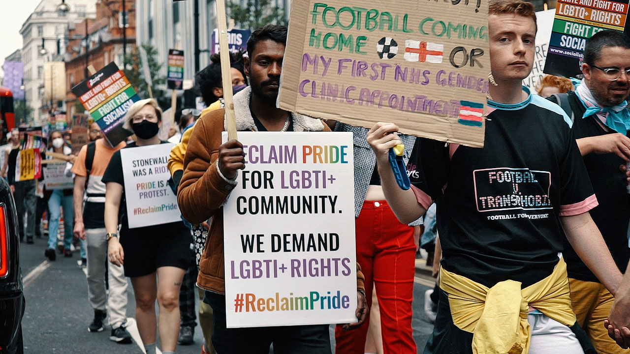 First UK Reclaim Pride March, London, 24 July 2021